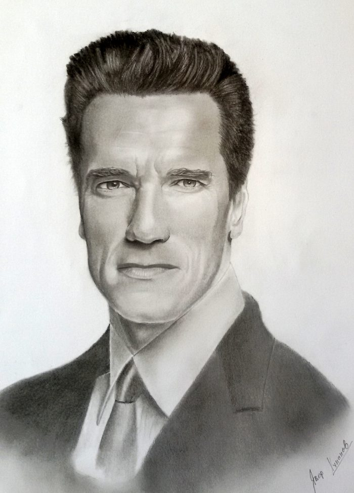 Arnold Schwarzenegger - graphite sketch by Iavor Kumanov