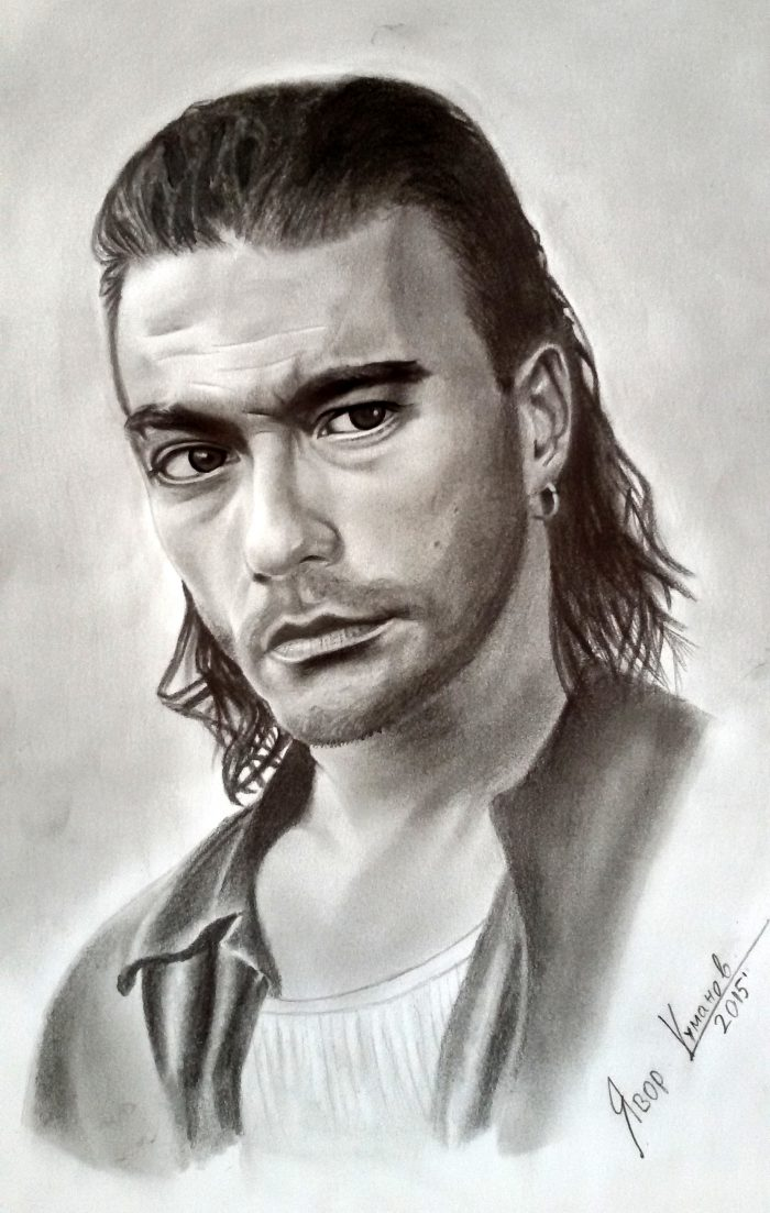 Jean Claude Van Damme - graphite sketch by Iavor Kumanov