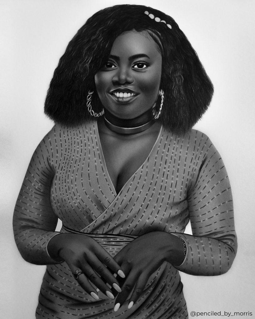 Pencil portraits by artist Morris Mensah Baffoe