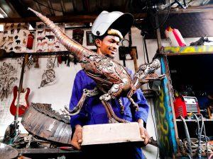 Scrap metal sculptures by Oladele Ogbeyemi